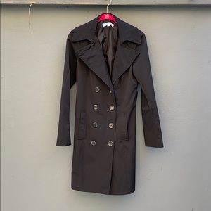 Size Small Black Trench Coat
